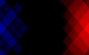 red, blue, квадрат, пиксель