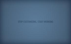 minimalismo, blu, sfondo, iscrizione, parole, espressione, lettere, significato