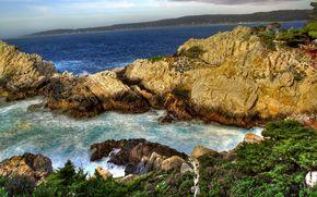 paesaggi, Rocks, acqua, natura, mare, oceano, erba