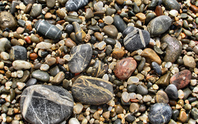 pebble, coast, Sea