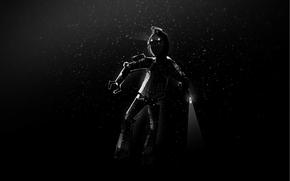 дайвер, робот, темнота