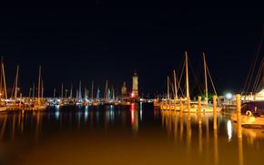 night city, Landscapes, Boats, катера, photo, water