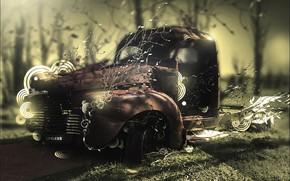 Maschine, Wald, Auto