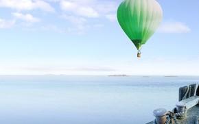 море, воздушный шар