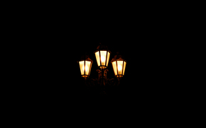 notte, semaforo, luce
