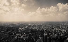 города, здания, небо