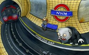 метро, рисунок, фантазия