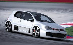 Volkswagen, Golf 3D, 汽车, 机械, 汽车