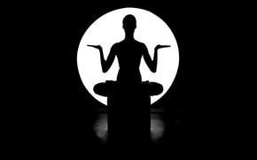 noche, Buda, luz