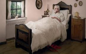 lupo, nonna, letto, storia