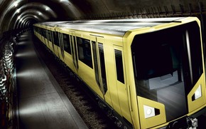 metro, treno, tunnel