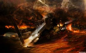 Esplosioni, fuoco, fuoco, situazione