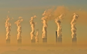 smog, industriale, inquinamento, shock