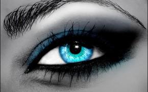 глаза, голубые, фотожаба