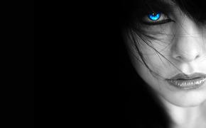 портрет, лицо, глаз