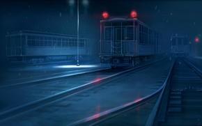 iron, road, wagon, Figure, night