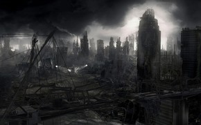 Apocalypse, destruction, Ville