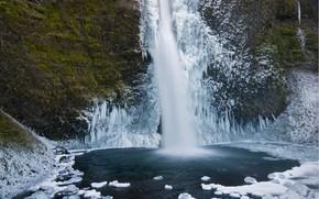 Wasserfall, Eis, Winter