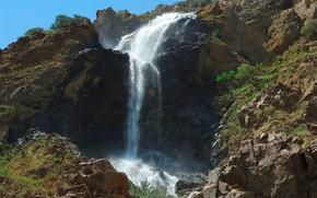 пейзажи, фото, вода, водопады, скалы