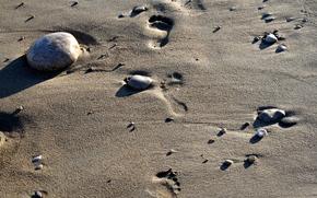 sand, pebble, sea, sun, recreation, Relax